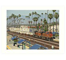 BNSF # 6600 at Riverside Art Print