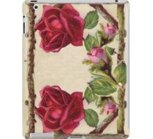 Vintage Rustic Red Roses Antique Flowers iPad Case/Skin