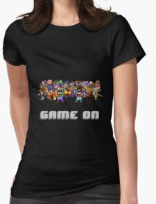 Game On! Video Game Crowd with Mario and Luigi Womens Fitted T-Shirt