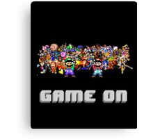 Game On! Video Game Crowd with Mario and Luigi Canvas Print