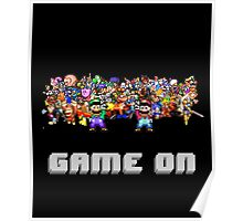 Game On! Video Game Crowd with Mario and Luigi Poster