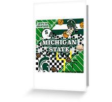 MICHIGAN STATE COLLAGE Greeting Card