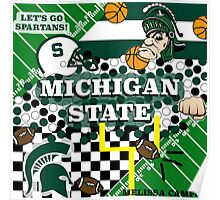 MICHIGAN STATE COLLAGE Poster