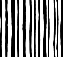 Into the Woods Stripes black by Mariana Musa