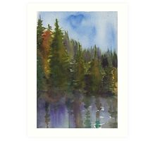 Evergreen Reflection Art Print