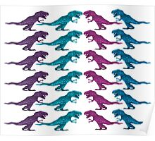 Colorful Dinosaur Pattern  Poster