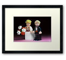 Lego Bride and Groom Framed Print