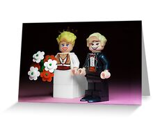 Lego Bride and Groom Greeting Card