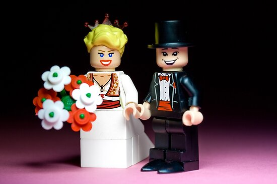 Lego Bride and Groom ( with top hat ) by Kevin  Poulton - aka 'Sad Old Biker'