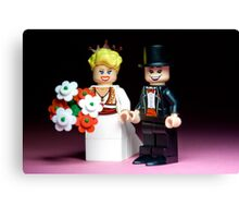 Lego Bride and Groom ( with top hat ) Canvas Print