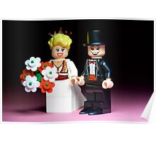 Lego Bride and Groom ( with top hat ) Poster