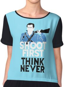 Shoot First, Think Never Chiffon Top