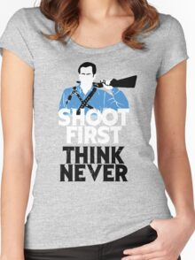 Shoot First, Think Never Women's Fitted Scoop T-Shirt