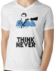 Shoot First, Think Never Mens V-Neck T-Shirt