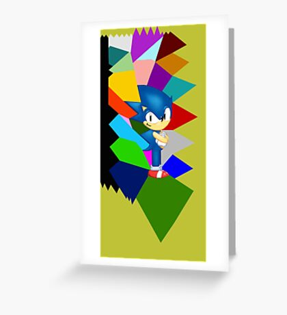 Sonic technicolor mosaic (UNOFFICIAL) Greeting Card