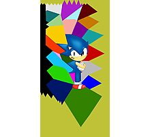 Sonic technicolor mosaic (UNOFFICIAL) Photographic Print