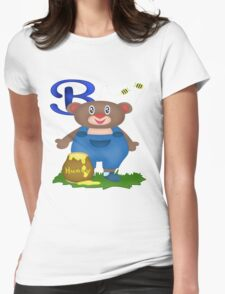 B is for Bear Womens Fitted T-Shirt