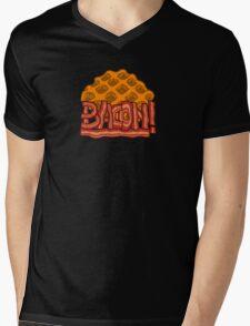 Waffle bacon logo Mens V-Neck T-Shirt