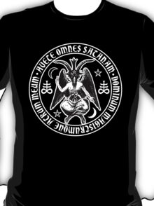 Baphomet & Satanic Crosses with Hail Satan Inscription T-Shirt