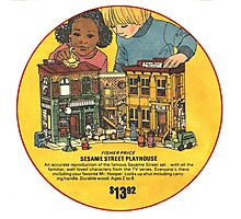 Fisher Price Sesame Street Playhouse Ad Photographic Print