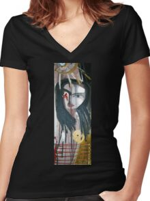 portrait of she Women's Fitted V-Neck T-Shirt