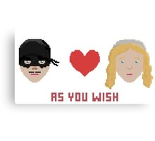 Westley and Buttercup, The Princess Bride - As You Wish, Pixels Canvas Print