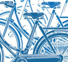 Blue motion bike a white background Sticker
