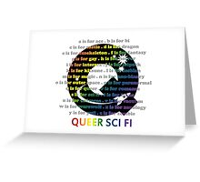 Queer Sci Fi - A is For Ace - Transparent Greeting Card