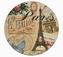 French Paris Vintage Collage France Europe Travel Kids Tee