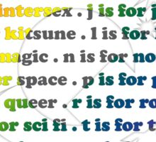 Queer Sci Fi - A is For Ace - White Sticker