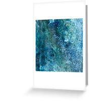 Abstract blue scales Greeting Card
