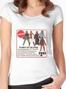 Mego Planet of the Apes Action Figures Women's Fitted Scoop T-Shirt