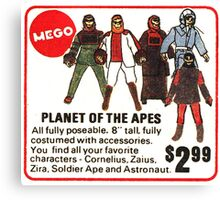 Mego Planet of the Apes Action Figures Canvas Print