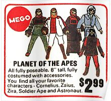 Mego Planet of the Apes Action Figures Poster