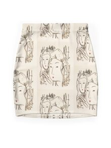 Japanese Bamboo Forest Mini Skirt