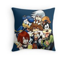 Kingdom Hearts Group Throw Pillow