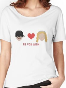 Westley and Buttercup, The Princess Bride - As You Wish, Pixels Women's Relaxed Fit T-Shirt