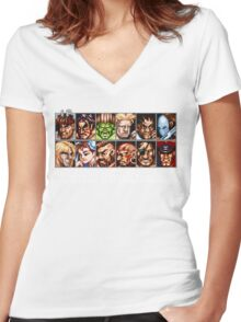 Street Fighter 2 Choices Women's Fitted V-Neck T-Shirt
