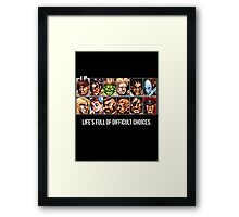 Street Fighter 2 Choices Framed Print