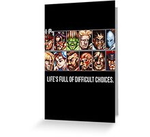 Street Fighter 2 Choices Greeting Card