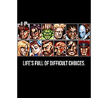 Street Fighter 2 Choices Photographic Print