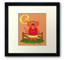 C is for Cat Framed Print