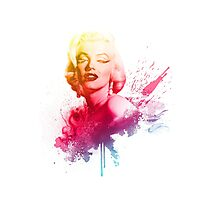 Marilyn Monroe Color Explosion  Photographic Print