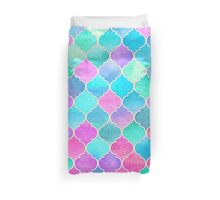 Bright Moroccan Morning - pretty pastel color pattern Duvet Cover