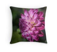 Purple Double Dahlia Throw Pillow