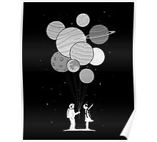Between planets and balloons. Poster