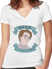 barb Women's Fitted V-Neck T-Shirt