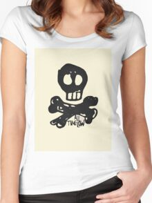 All Time Low - Skully Natural Women's Fitted Scoop T-Shirt