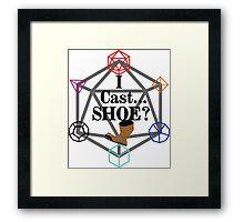 I Cast Shoe?! Framed Print