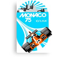 Monaco Grand Prix Poster Canvas Print